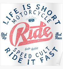 Motorcycle Speed Cult Poster