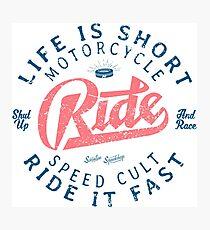 Motorcycle Speed Cult Fotodruck