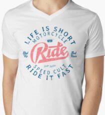 Motorcycle Speed Cult T-Shirt mit V-Ausschnitt