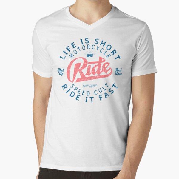 Motorcycle Speed Cult V-Neck T-Shirt