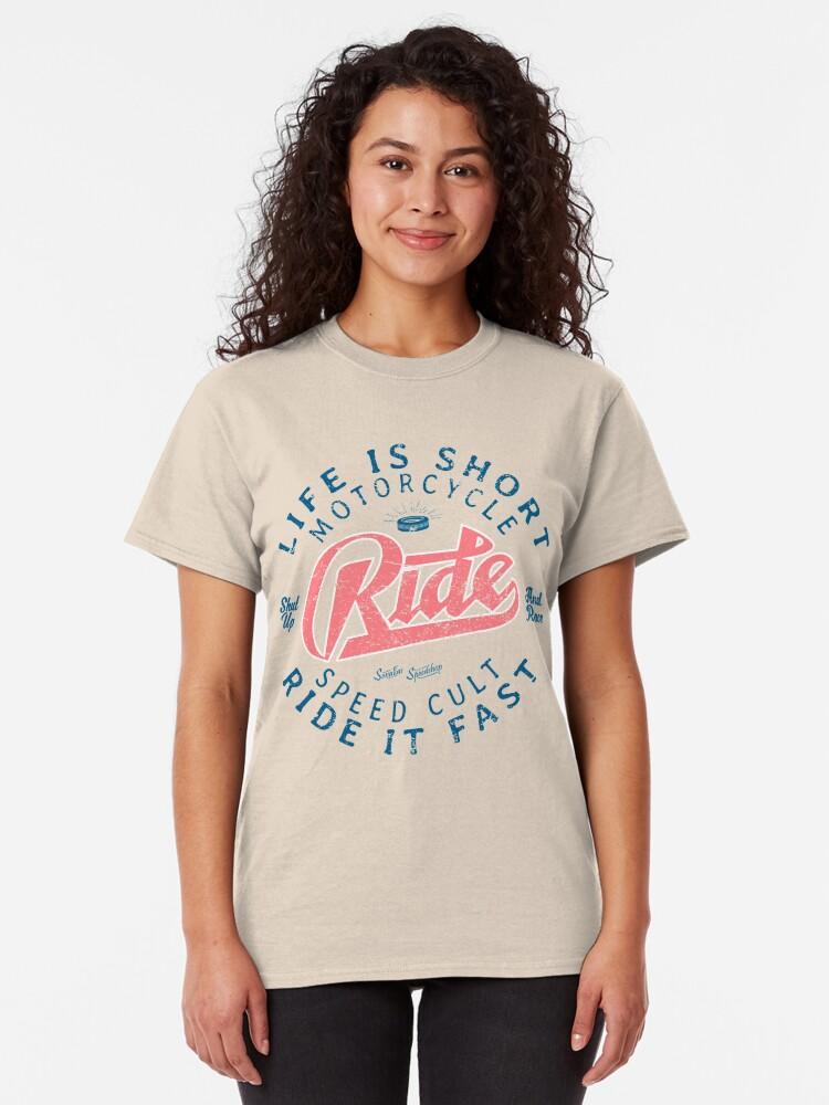 Alternative Ansicht von Motorcycle Speed Cult Classic T-Shirt