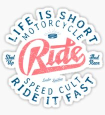 Motorcycle Speed Cult Sticker