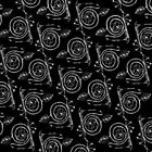 White Spirals on Black by plumecloth