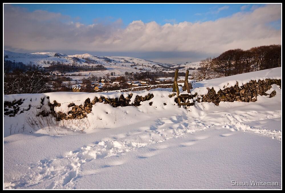 Views across a snowy landscape by Shaun Whiteman