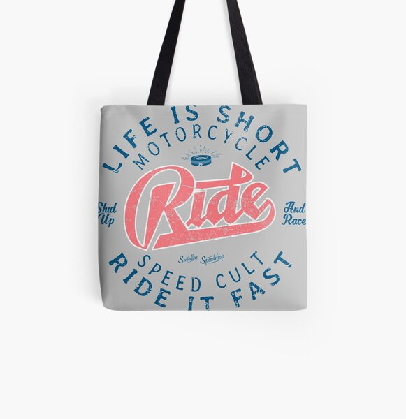 Motorcycle Speed Cult All Over Print Tote Bag