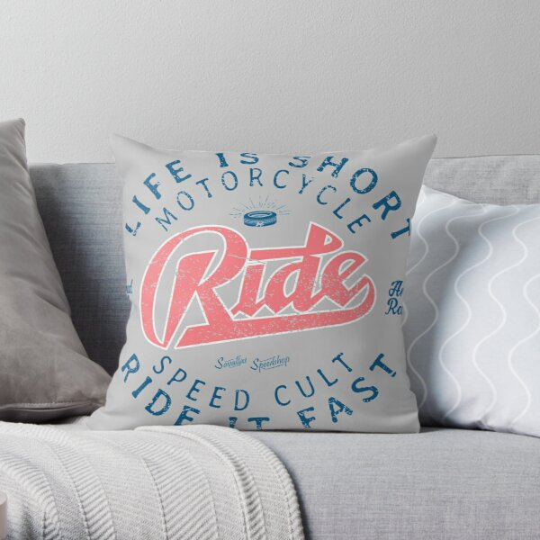 Motorcycle Speed Cult Throw Pillow
