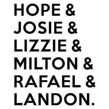 Legacies - Hope & Josie & Lizzie & Milton & Rafael & Landon by BadCatDesigns