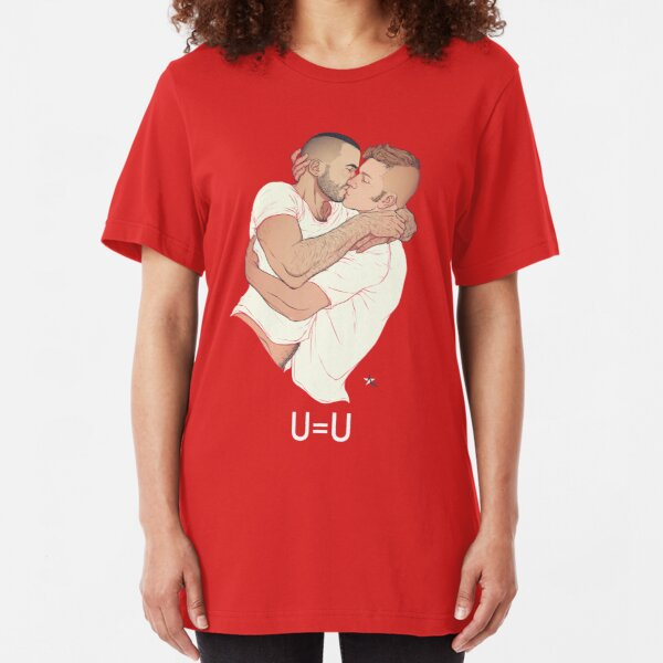 U=U Undetectable Means Uninfectious Slim Fit T-Shirt
