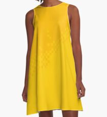 The 8-Bit Pixel Fashion Pattern Yellow A-Linien Kleid