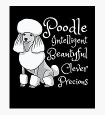 Poodle Dog Precious Character Temperament Gift Photographic Print