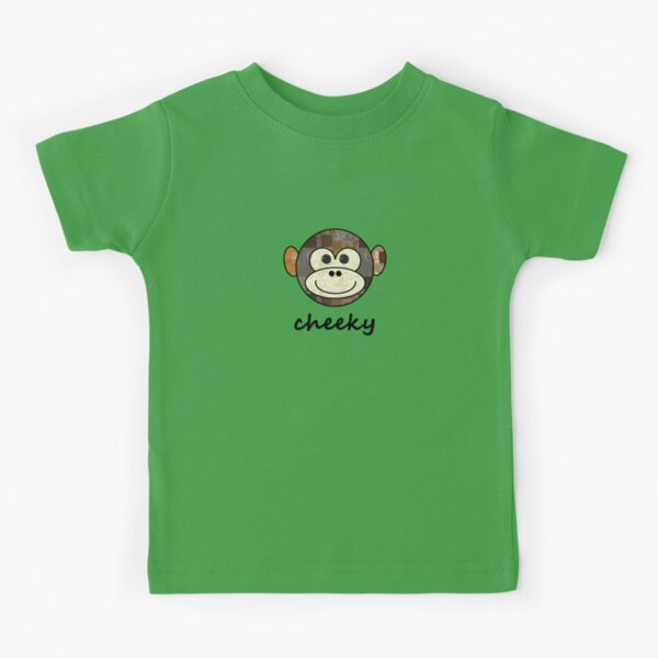 CHEEKY MONKEY BOYS OR GIRLS T SHIRT KIDS BABY CARTOON FUNNY BIRTHDAY NEWBORN