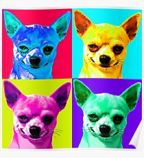 Chihuahua Pop Art Poster
