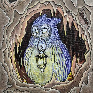 Hideaway Owl by woaarts
