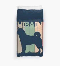 Shiba Inu Dog Silhouette Duvet Cover
