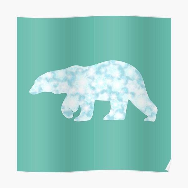 Gefrorener Eisbär zu Fuß Poster