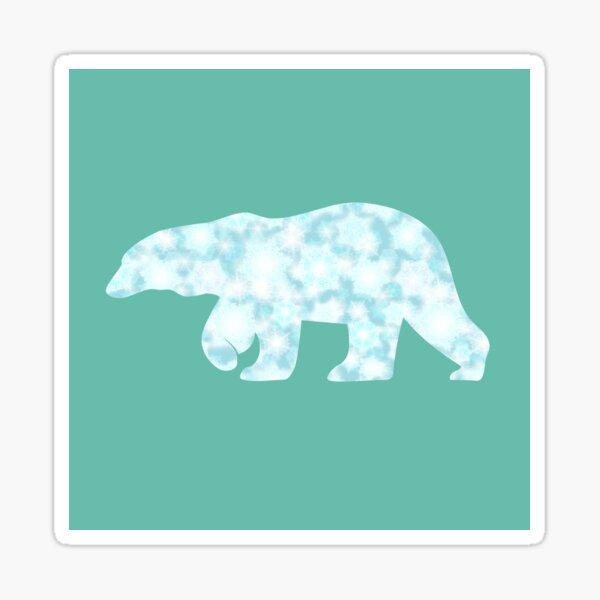 Frozen polar bear walking Sticker
