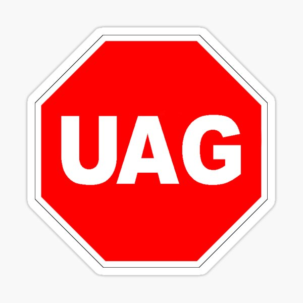 UAG Stop Sign Sticker