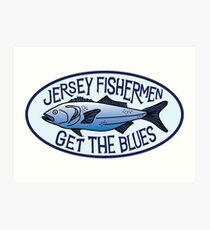 Jersey Fishermen get the Blues  Art Print