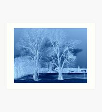 """Blue Tree Inversion featured in """"German Artists"""" Art Print"""