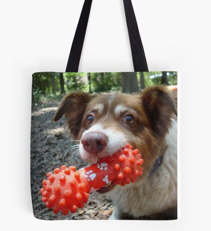 Buddy and his Dumbell Tote Bag