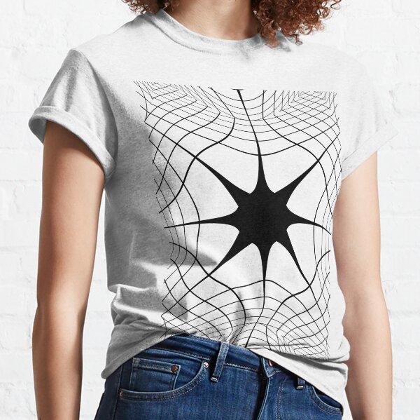 #blackandwhite #symmetry #lineart #structure #circle #monochrome #pattern #design #abstract #modern #shape #futuristic #art #illustration #vertical #photography #drawingartproduct #geometricshape #nop Classic T-Shirt