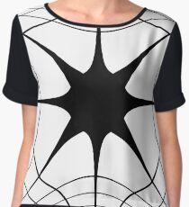 #blackandwhite #symmetry #lineart #structure #circle #monochrome #pattern #design #abstract #modern #shape #futuristic #art #illustration #vertical #photography #drawingartproduct #geometricshape #nop Chiffon Top
