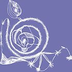 White Spiral on Purple by plumecloth