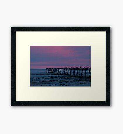 The Pier - Saltburn (Split Toned) Framed Print