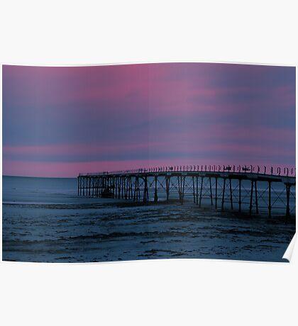 The Pier - Saltburn (Split Toned) Poster