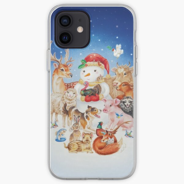 20 Christmas animals by Maria Tiqwah iPhone Soft Case