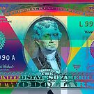 Obverse of a Colorized Two U. S. Dollar Bill  by Serge Averbukh