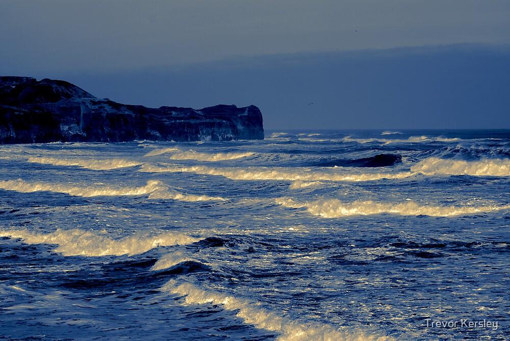 Waves - Sandsend  (Split Toned) by Trevor Kersley