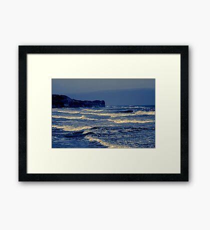 Waves - Sandsend  (Split Toned) Framed Print