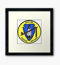Seal of the Osage Nation Framed Print