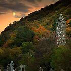 Moonrise Over St Kevin's Church by Derek Smyth