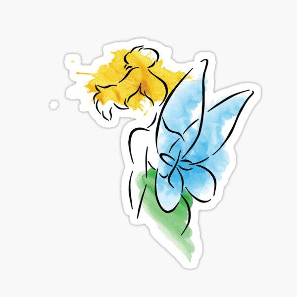 Watercolor Fairy Sticker