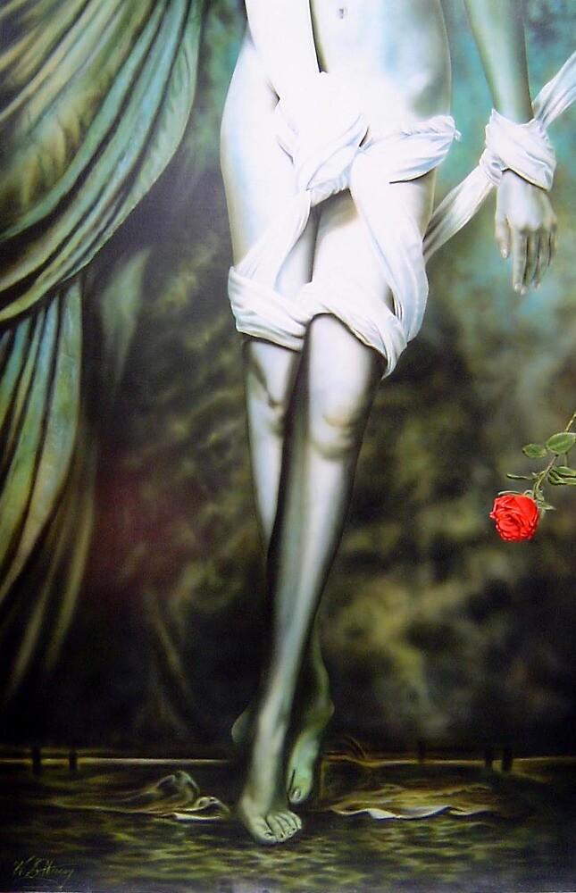 Warren Haney,   'Rose' 153 cm x 102 cm    Acrylic on Stretched Canvas by Warren Haney
