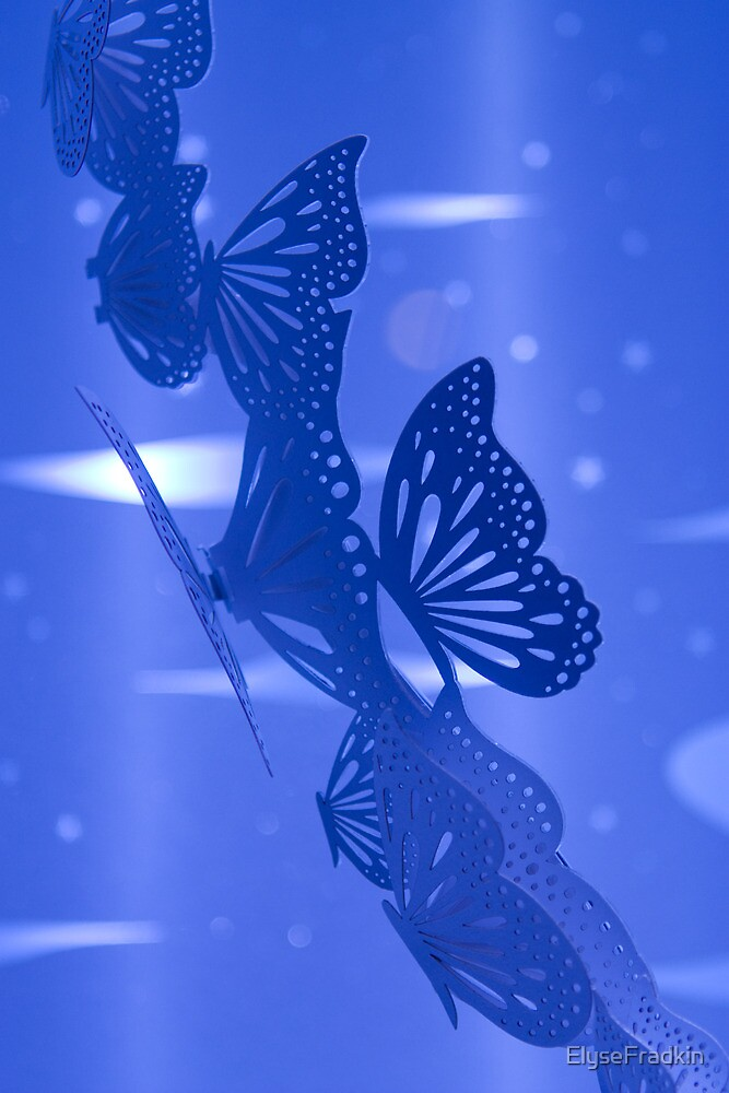 Blue Butterflies by ElyseFradkin