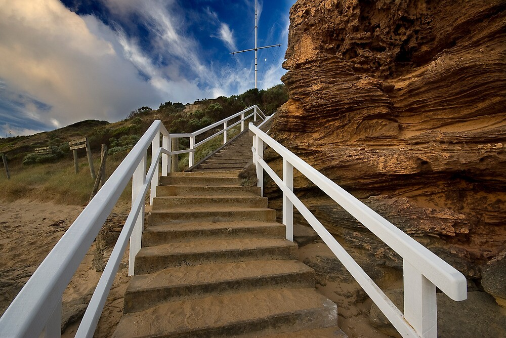 Point Lonsdale, Stairs to Lighthouse by Akif  Kaynak