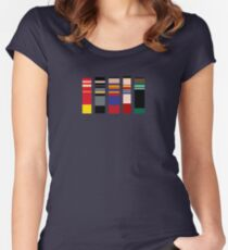 Color Palette Of Justice Women's Fitted Scoop T-Shirt