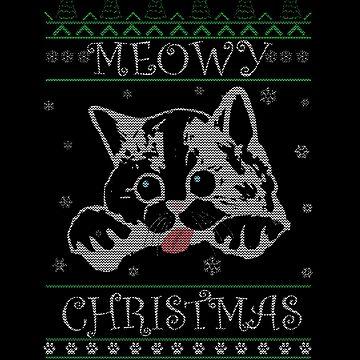 Meowy Christmas Katzige Christmas by KabaTheBear