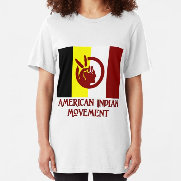 The American Indian Movement - Flag Slim Fit T-Shirt