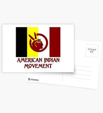 The American Indian Movement - Flag Postcards