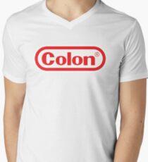 Colon Nintendo-Style Logo Men's V-Neck T-Shirt