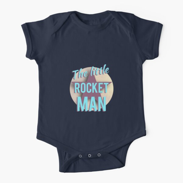 The Little Rocket Man Short Sleeve Baby One-Piece