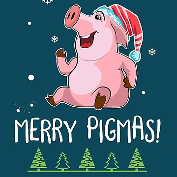 Merry Pigmas - Funny Pig Shirt for Christmas Gift idea by MVArtStudio