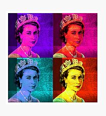 Queen Elizabeth II - Pop Art Photographic Print