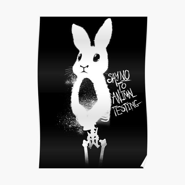Say No To Animal Testing  Poster