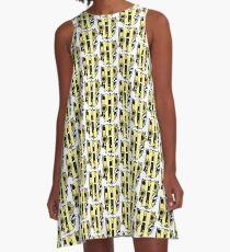 Honigdachswappen (nur Farbsymbol) A-Linien Kleid