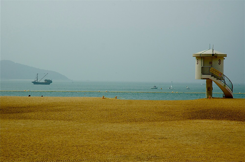 Lifeguard Tower at Mui Wo by Frank Donnoli